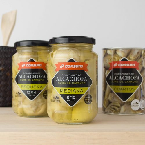 Corazones de alcachofa Consum